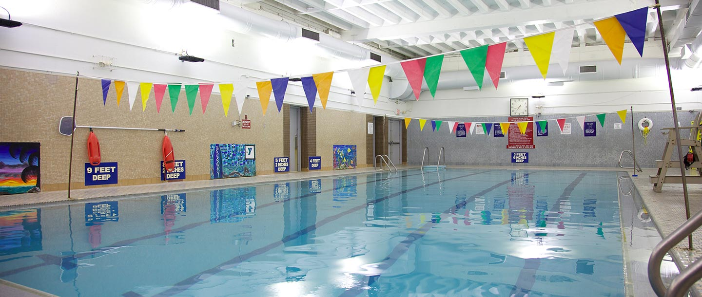 Indoor swimming pool at Staten Island Broadway YMCA