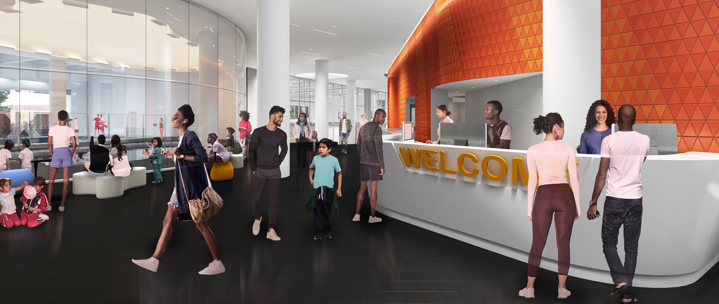 Rendering of a new Bronx YMCA branch.