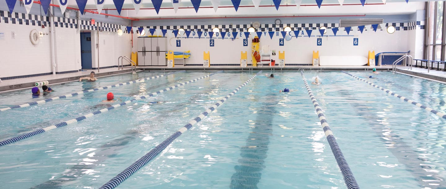 Indoor swimming pool at the Dodge YMCA in Brooklyn