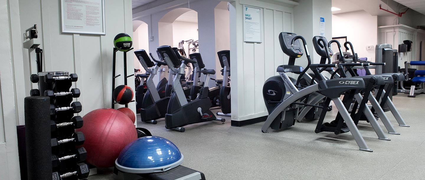 Fitness center at the Greenpoint YMCA
