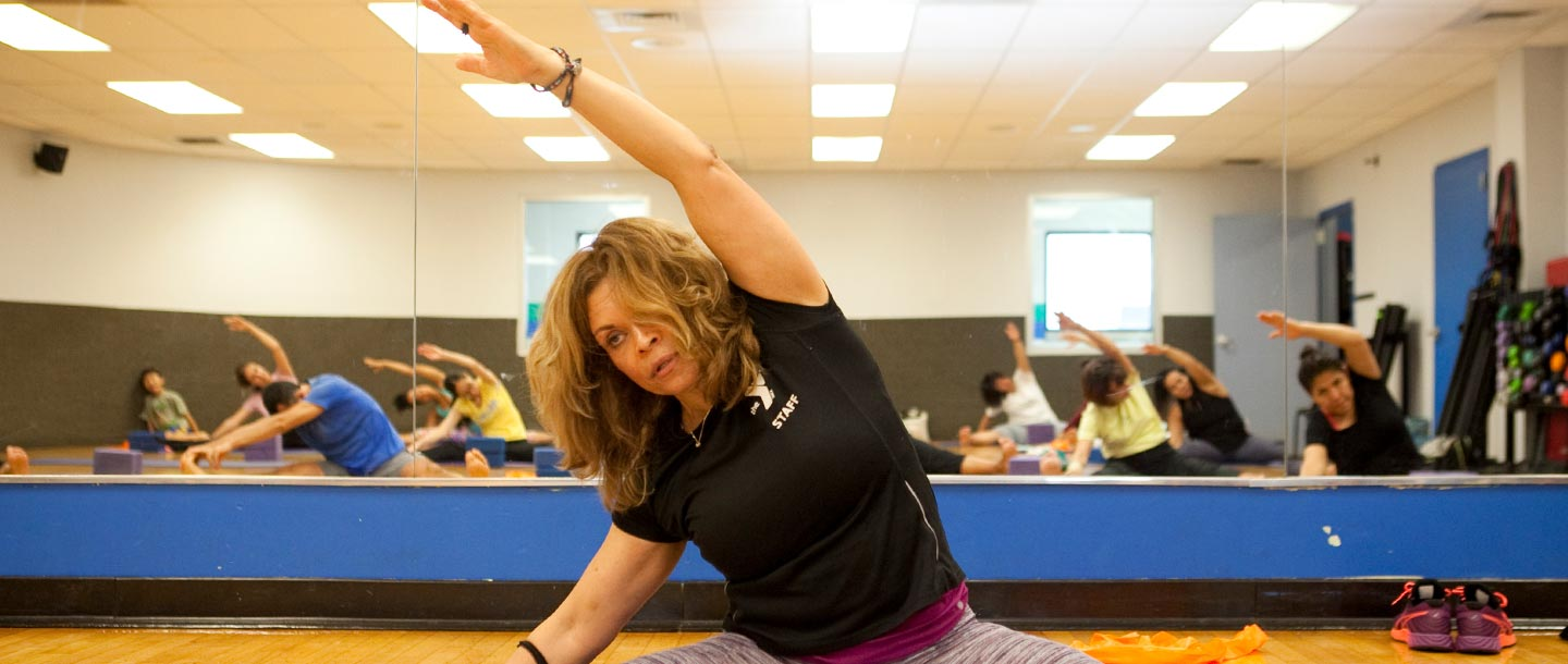 Yoga class at the LIC YMCA