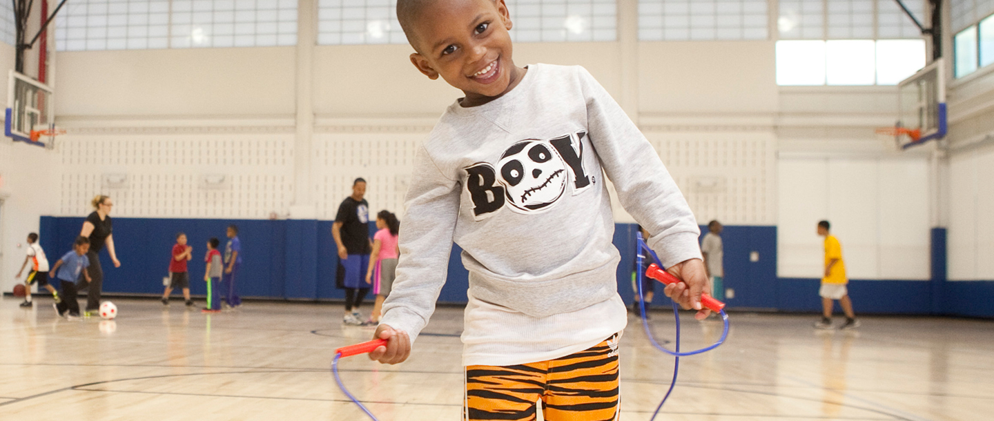 Boy playing at the YMCA