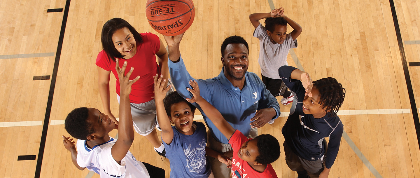 Basketball class for kids at YMCA