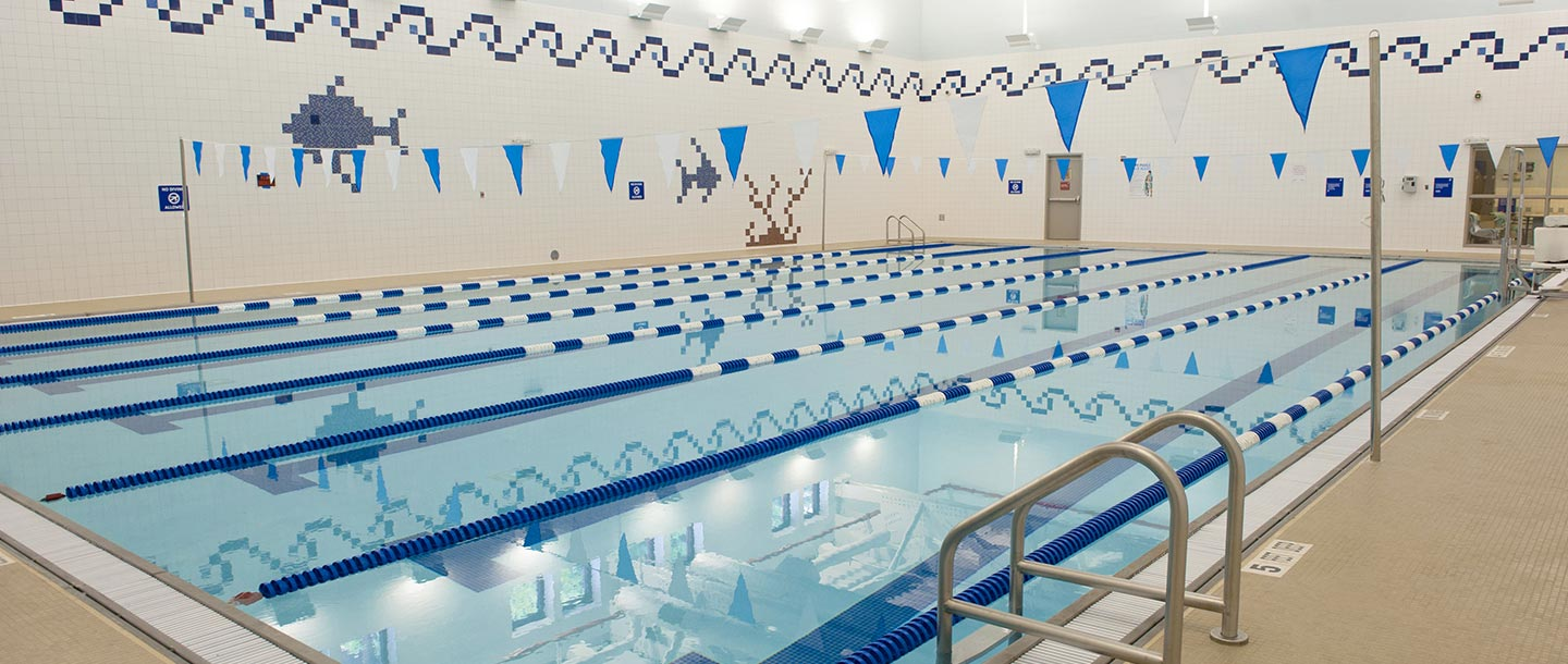 Indoor swimming pool at Prospect Park YMCA