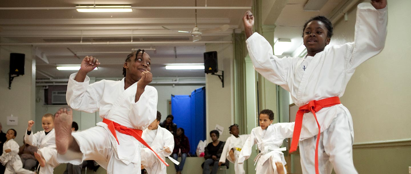 Karate for kids at the Harlem YMCA