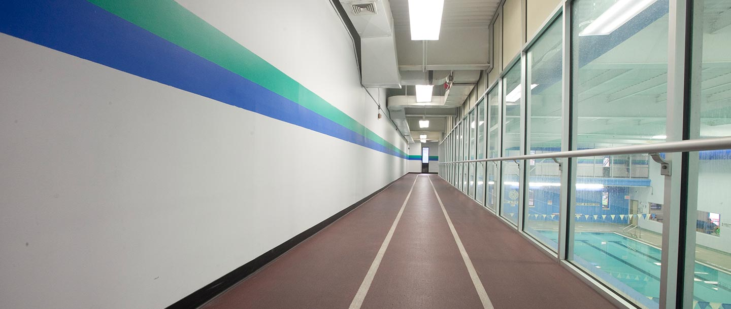Indoor running track at LIC YMCA