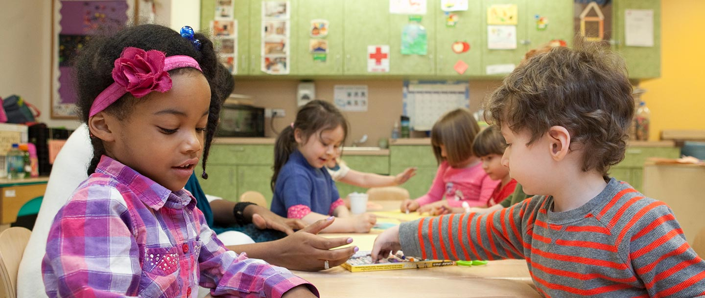 Preschoolers at the Ridgewood YMCA