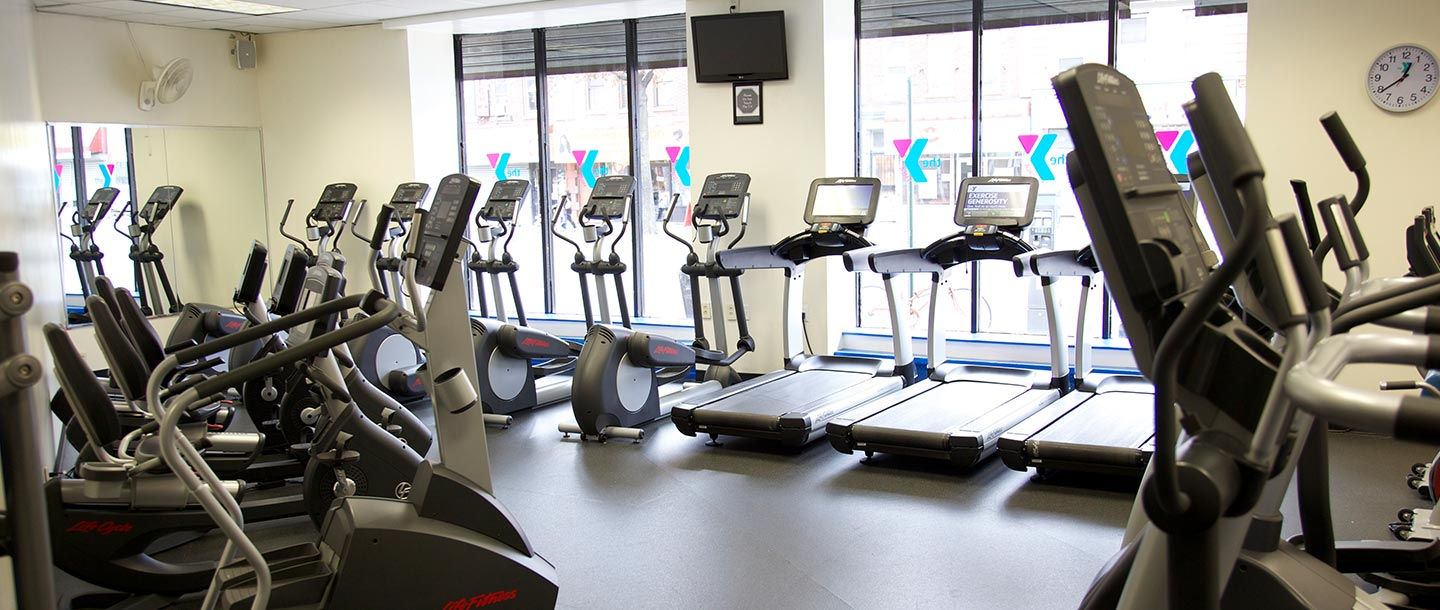 Cardio machines at the Flatbush YMCA