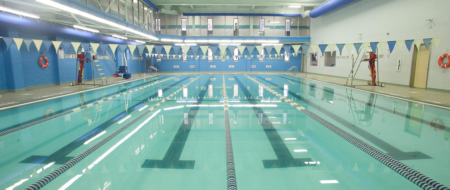 Pool at the Long Island City YMCA.