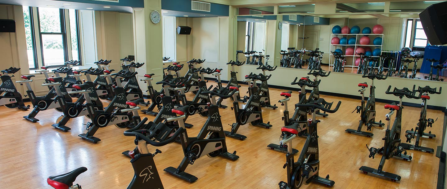Spin studio at the Prospect Park YMCA.