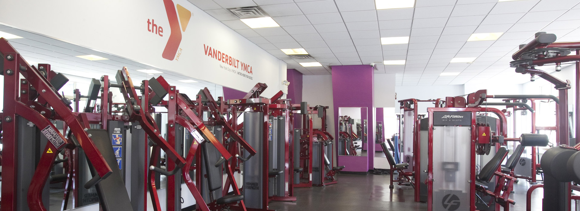 Strength training equipment at the YMCA