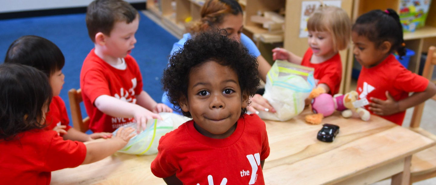 Preschool summer camper at YMCA prek classroom
