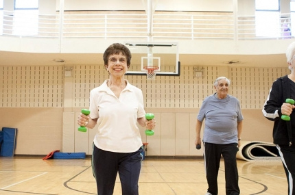 Senior fitness exercise at YMCA
