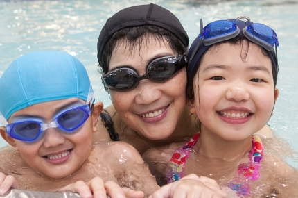 Open gym and swim time for families at the YMCA is free with your membership