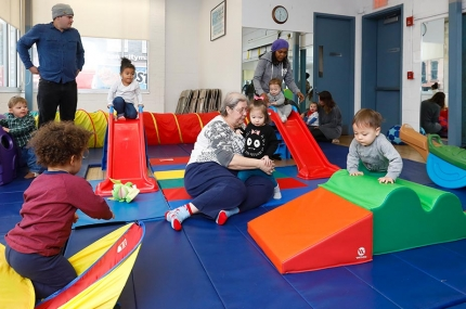 Families in playroom