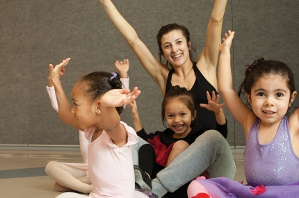 Ballerinas in class at YMCA