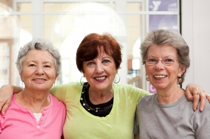 Senior women becoming friends at the YMCA