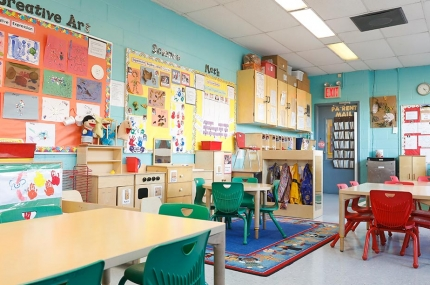 Preschool classroom at Cross Island YMCA